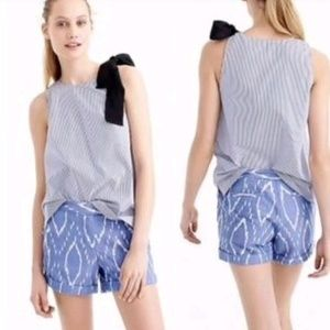 Loft blue Ikat shorts